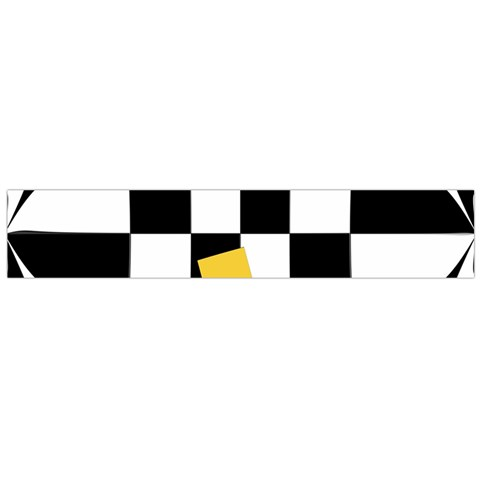 Dropout Yellow Black And White Distorted Check Flano Scarf (Large)