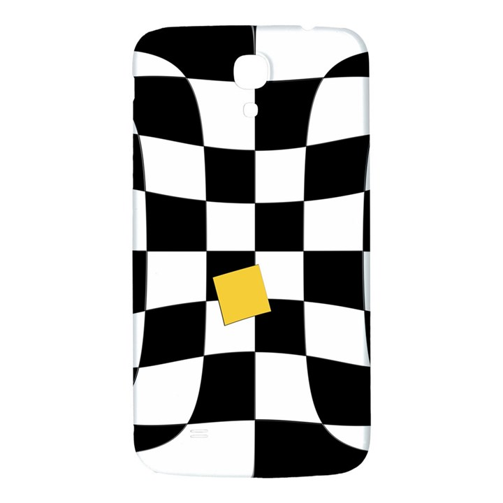 Dropout Yellow Black And White Distorted Check Samsung Galaxy Mega I9200 Hardshell Back Case