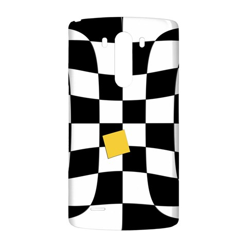 Dropout Yellow Black And White Distorted Check LG G3 Back Case