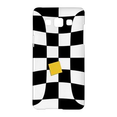 Dropout Yellow Black And White Distorted Check Samsung Galaxy A5 Hardshell Case