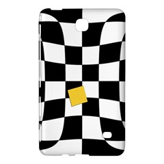Dropout Yellow Black And White Distorted Check Samsung Galaxy Tab 4 (7 ) Hardshell Case