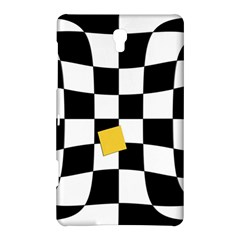 Dropout Yellow Black And White Distorted Check Samsung Galaxy Tab S (8.4 ) Hardshell Case