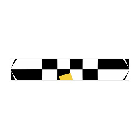 Dropout Yellow Black And White Distorted Check Flano Scarf (Mini)