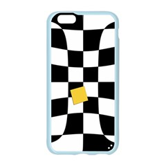 Dropout Yellow Black And White Distorted Check Apple Seamless iPhone 6/6S Case (Color)
