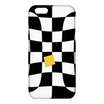 Dropout Yellow Black And White Distorted Check iPhone 6/6S TPU Case Front