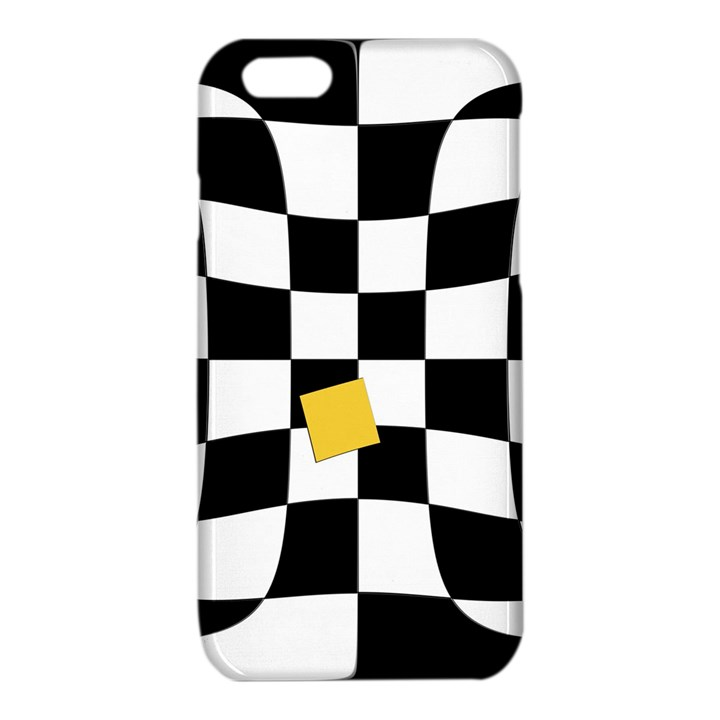 Dropout Yellow Black And White Distorted Check iPhone 6/6S TPU Case
