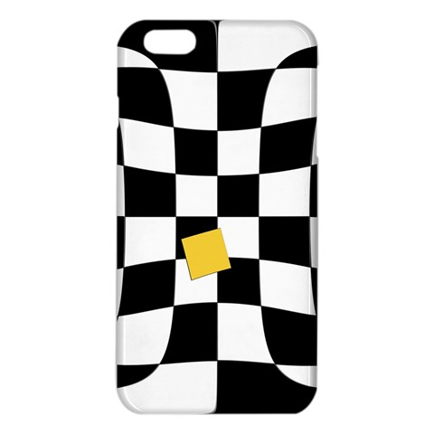 Dropout Yellow Black And White Distorted Check iPhone 6 Plus/6S Plus TPU Case