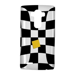Dropout Yellow Black And White Distorted Check Lg G4 Hardshell Case