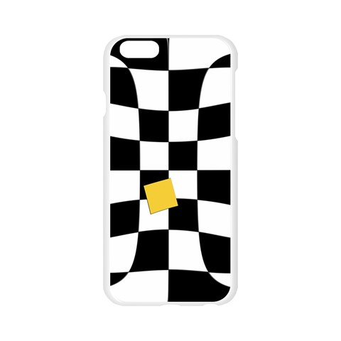 Dropout Yellow Black And White Distorted Check Apple Seamless iPhone 6/6S Case (Transparent)