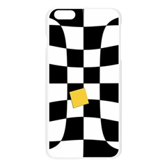 Dropout Yellow Black And White Distorted Check Apple Seamless iPhone 6 Plus/6S Plus Case (Transparent)