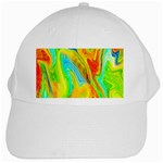 Happy Multicolor Painting White Cap Front