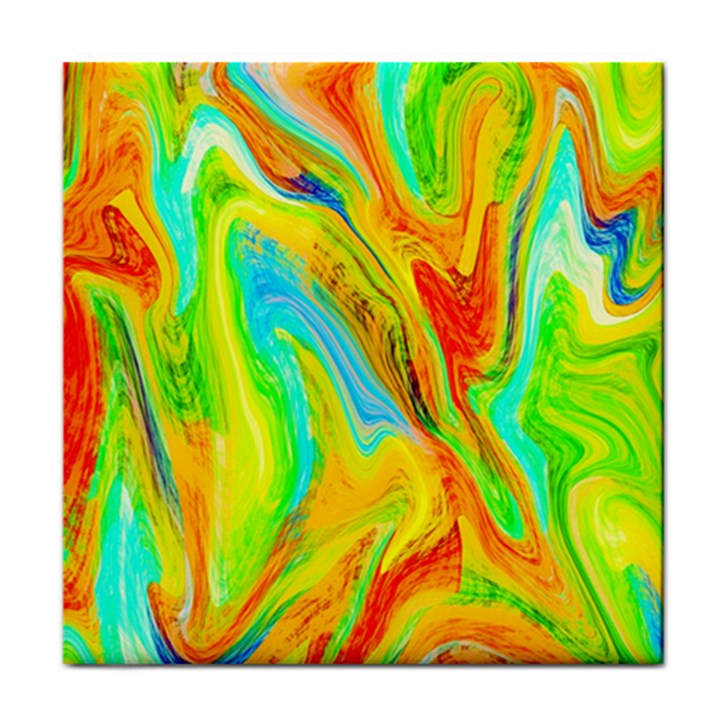 Happy Multicolor Painting Tile Coasters