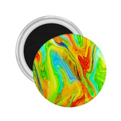 Happy Multicolor Painting 2.25  Magnets