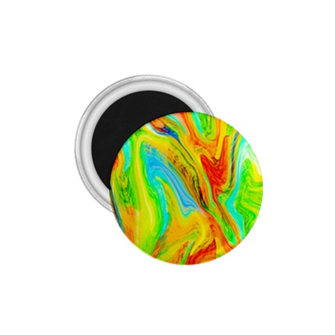 Happy Multicolor Painting 1.75  Magnets