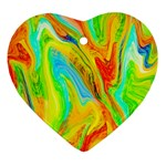 Happy Multicolor Painting Ornament (Heart)  Front