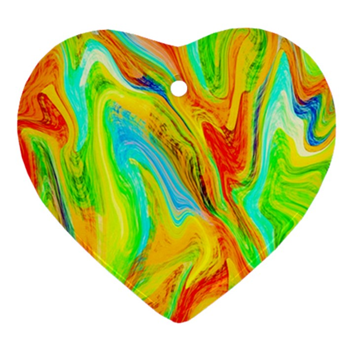 Happy Multicolor Painting Ornament (Heart)
