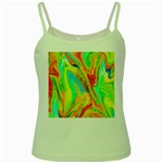 Happy Multicolor Painting Green Spaghetti Tank Front