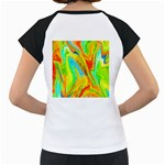 Happy Multicolor Painting Women s Cap Sleeve T Back