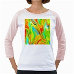 Happy Multicolor Painting Girly Raglans Front