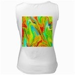 Happy Multicolor Painting Women s White Tank Top Back