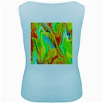 Happy Multicolor Painting Women s Baby Blue Tank Top Back