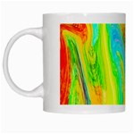 Happy Multicolor Painting White Mugs Left