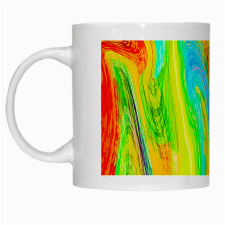 Happy Multicolor Painting White Mugs