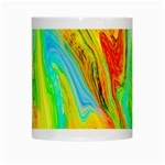 Happy Multicolor Painting White Mugs Center