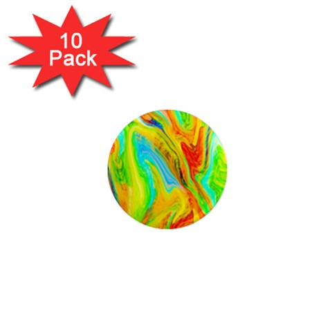 Happy Multicolor Painting 1  Mini Magnet (10 pack)