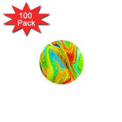 Happy Multicolor Painting 1  Mini Magnets (100 Pack)