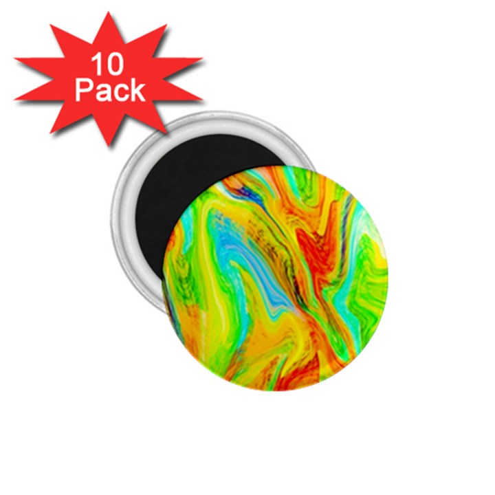 Happy Multicolor Painting 1.75  Magnets (10 pack)