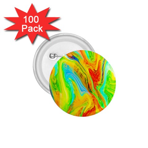 Happy Multicolor Painting 1.75  Buttons (100 pack)