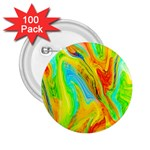 Happy Multicolor Painting 2.25  Buttons (100 pack)  Front