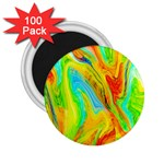 Happy Multicolor Painting 2.25  Magnets (100 pack)  Front