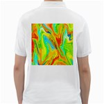 Happy Multicolor Painting Golf Shirts Back