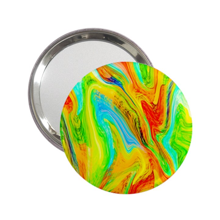 Happy Multicolor Painting 2.25  Handbag Mirrors