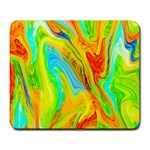 Happy Multicolor Painting Large Mousepads Front