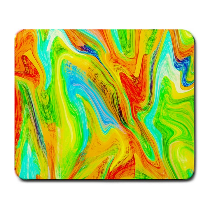 Happy Multicolor Painting Large Mousepads