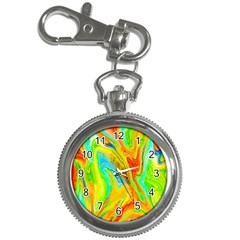 Happy Multicolor Painting Key Chain Watches
