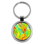 Happy Multicolor Painting Key Chains (Round)  Front