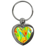 Happy Multicolor Painting Key Chains (Heart)  Front