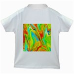 Happy Multicolor Painting Kids White T-Shirts Back