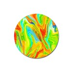 Happy Multicolor Painting Magnet 3  (Round) Front