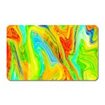 Happy Multicolor Painting Magnet (Rectangular) Front