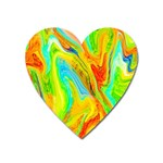 Happy Multicolor Painting Heart Magnet Front
