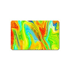 Happy Multicolor Painting Magnet (name Card)
