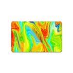 Happy Multicolor Painting Magnet (Name Card) Front