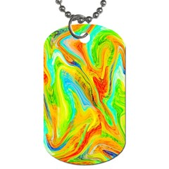 Happy Multicolor Painting Dog Tag (One Side)