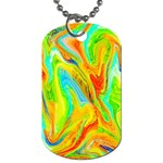 Happy Multicolor Painting Dog Tag (One Side) Front