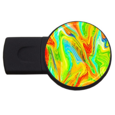 Happy Multicolor Painting USB Flash Drive Round (1 GB)
